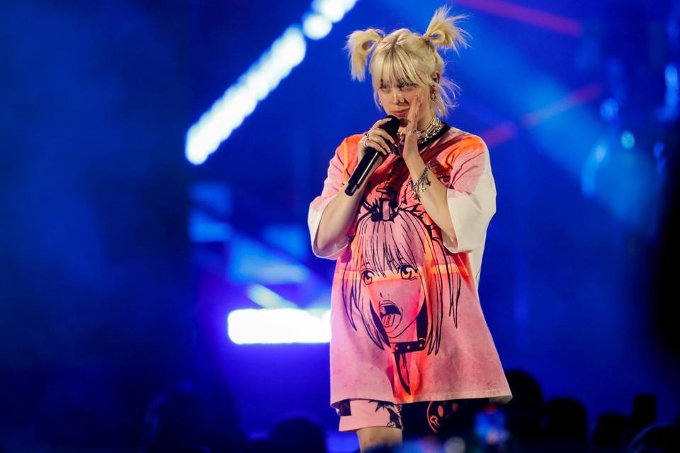 Billie Eilish, een van dé sterren uit de rijkelijk gevulde portefeuille van platenmaatschappij Universal Music Group.