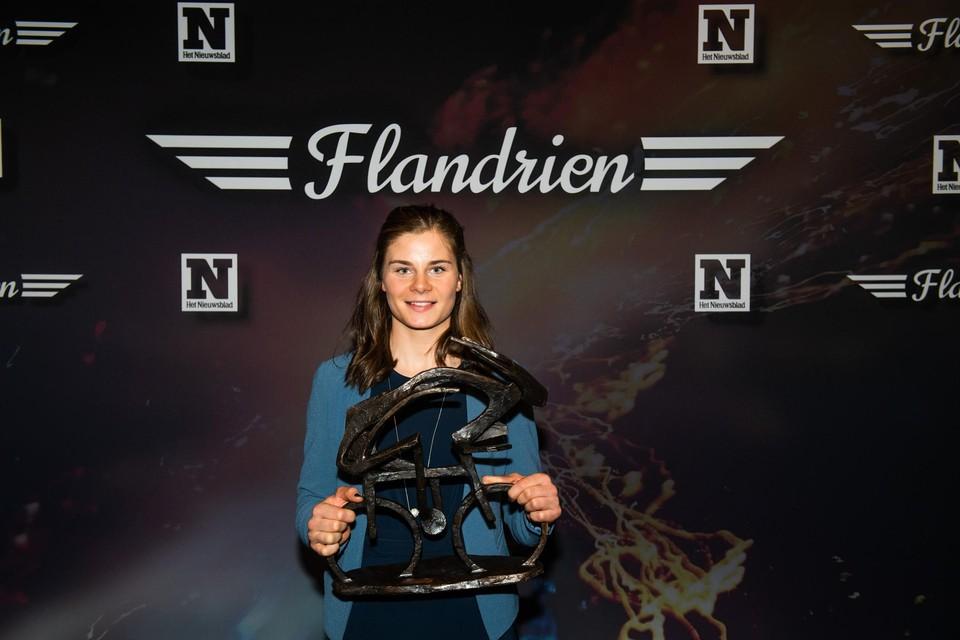 Lotte Kopecky won voor de eerste keer de Flandrienne-trofee.