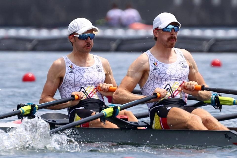 De Belgian Sharks zijn de eerste Belgische medaillekandidaten van de dag. Het zit alvast snor tussen Tim Brys en Niels van Zandweghe.