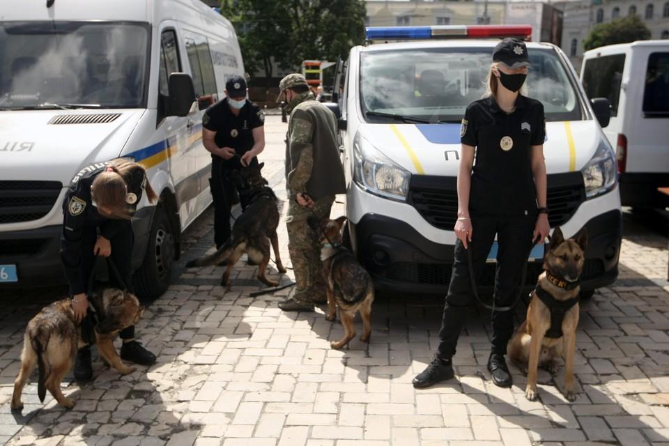 Archiefbeeld: politie in Kiev.
