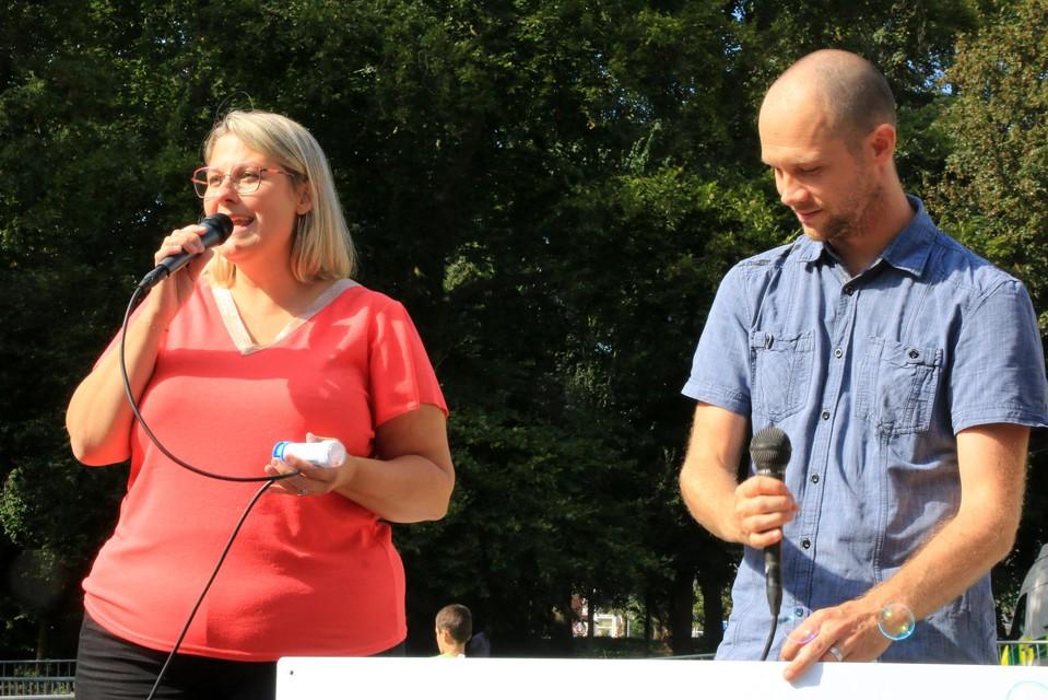 Schepen Eva Rombaut licht de campagne toe