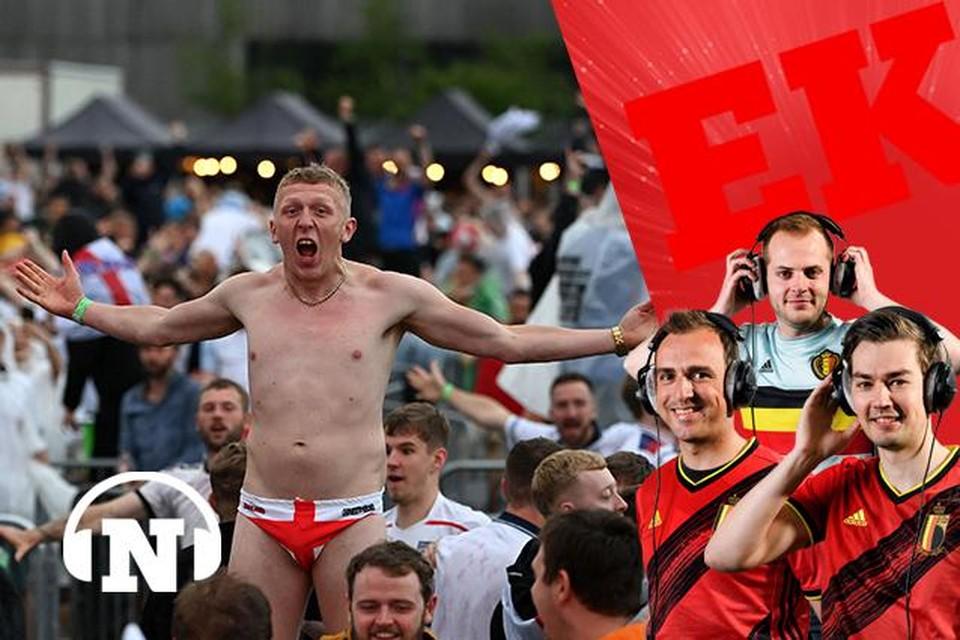 Deze fan in Manchester zag en ziet het nog helemaal zitten.