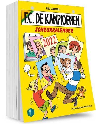 De cover van de Kampioenen-scheurkalender.