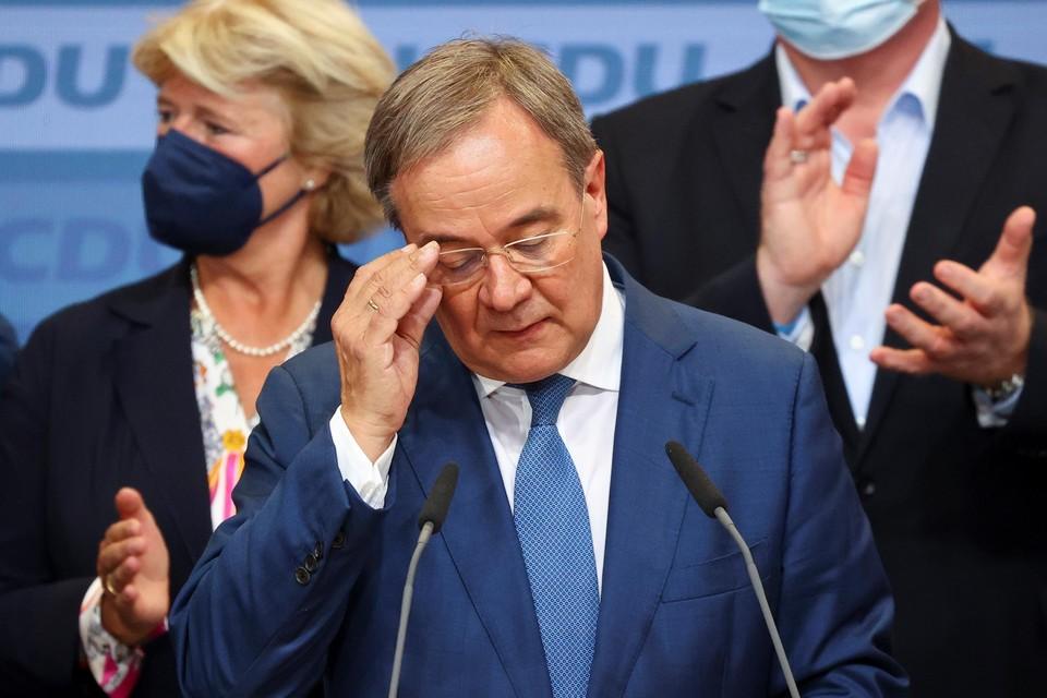 Armin Laschetna de eerste exitpolls.