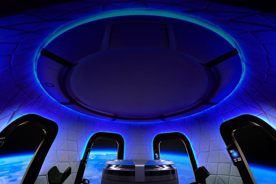 Het interieur van de Blue Origin Crew Capsule