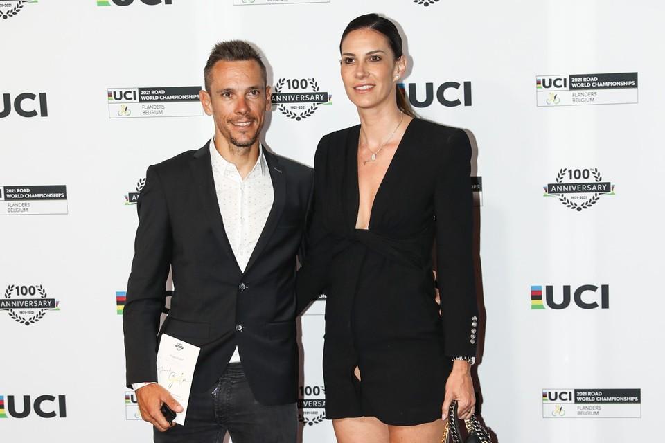 Philippe Gilbert en vriendin Bettina.