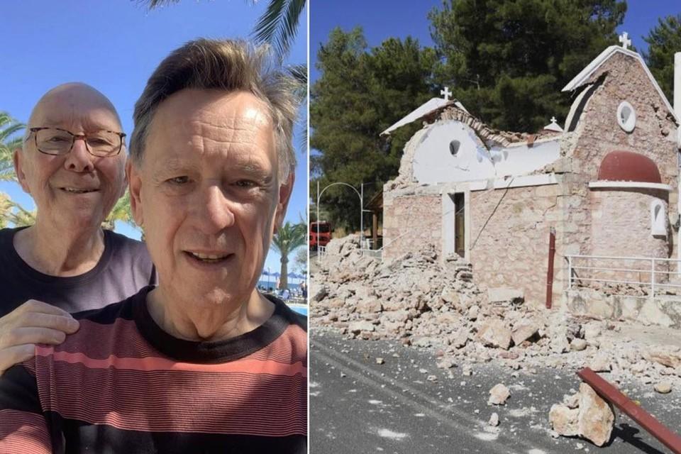 Koen Crucke en zijn man Jan verblijven sinds 21 september op het Griekse eiland.
