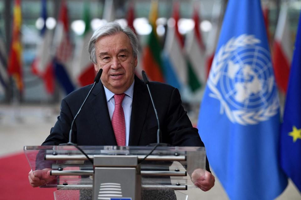 """Volgens Antonio Guterres is het """"onze taak solidariteit te tonen met de Afghaanse bevolking""""."""