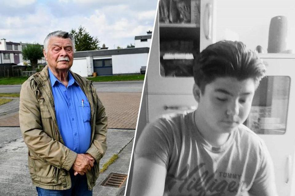 Buurtbewoner Alfons Traen is enorm geschrokken door de steekpartij die het leven kostte aan de vijftienjarige Milan Meert (rechts).