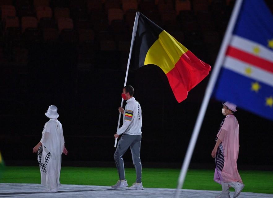 Grégory Wathelet droeg de vlag namens België