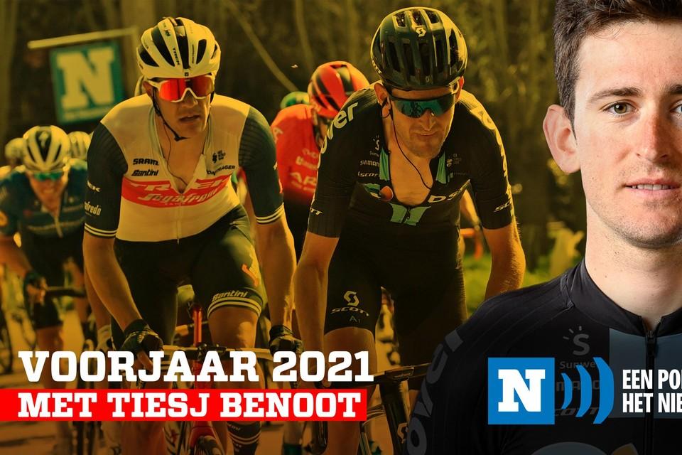 Tiesj Benoot klom naar een zevende plaats in Luik-Bastenaken-Luik en had nog  voor een boeiende podcast.
