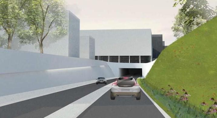 Wie op de R40 rijdt zou via een tunnel onder het kruispunt geleid worden, van de Kasteellaan naar de Koopvaardij- en Afrikalaan.