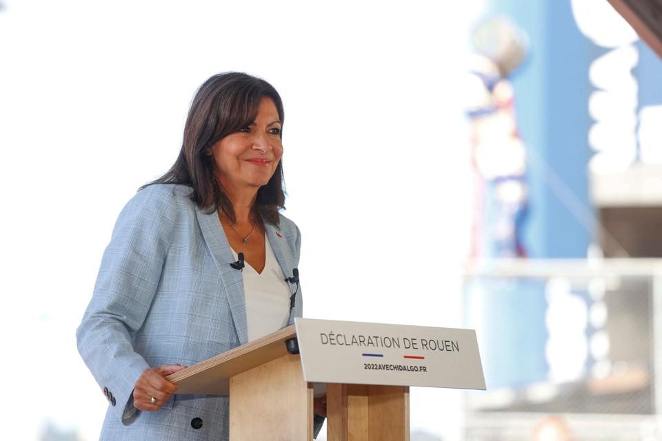 Hidalgo kondigde haar kandidatuur aan tijdens een speech in Rouen.