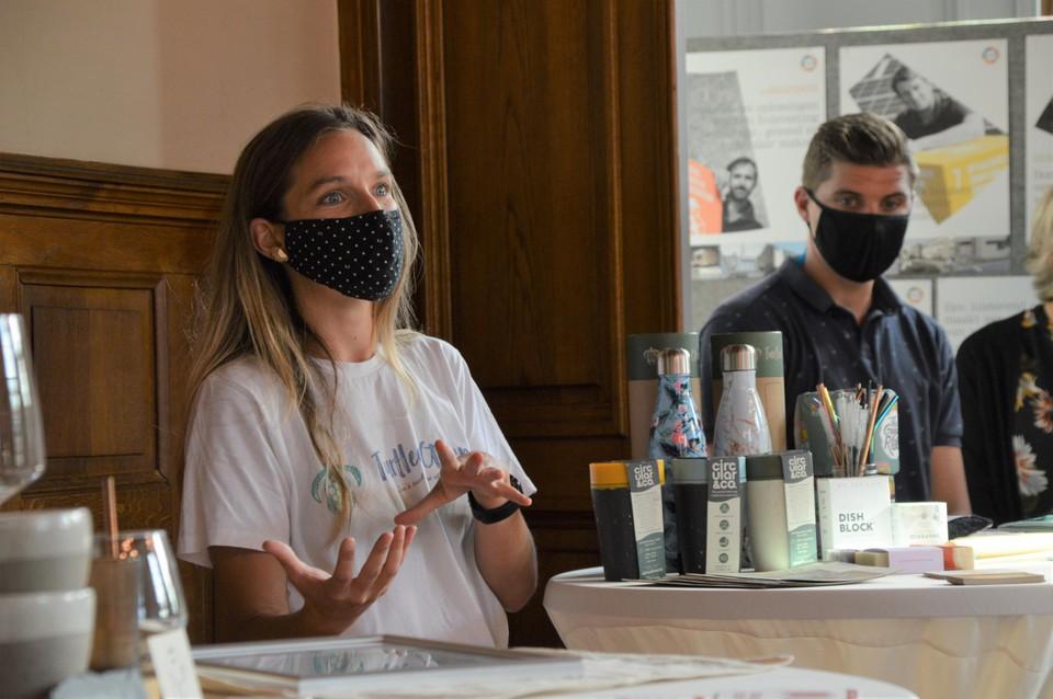 Axelle Defossez van DEFO over haar verpakkingsvrije winkel, koffiebar en shop Turtlee Green.