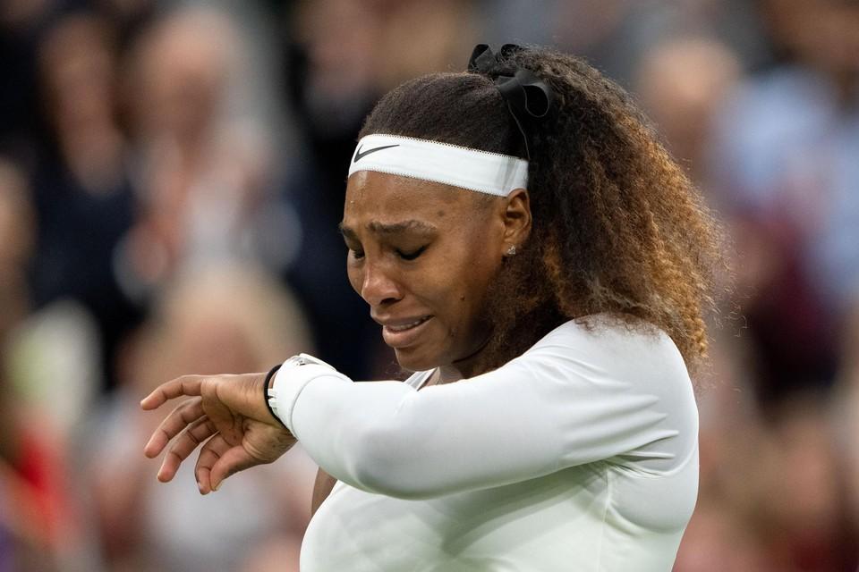 Serena Williams in tranen.