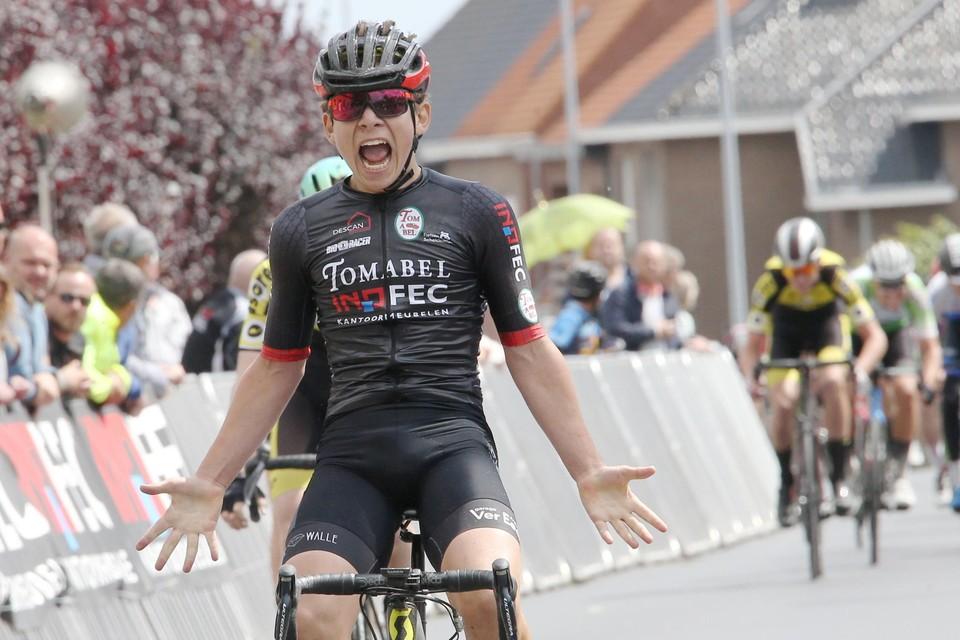 Zijn derde plaats levert Lomme Van den Meerssche de provinciale titel op bij de eerstejaarsnieuwelingen.