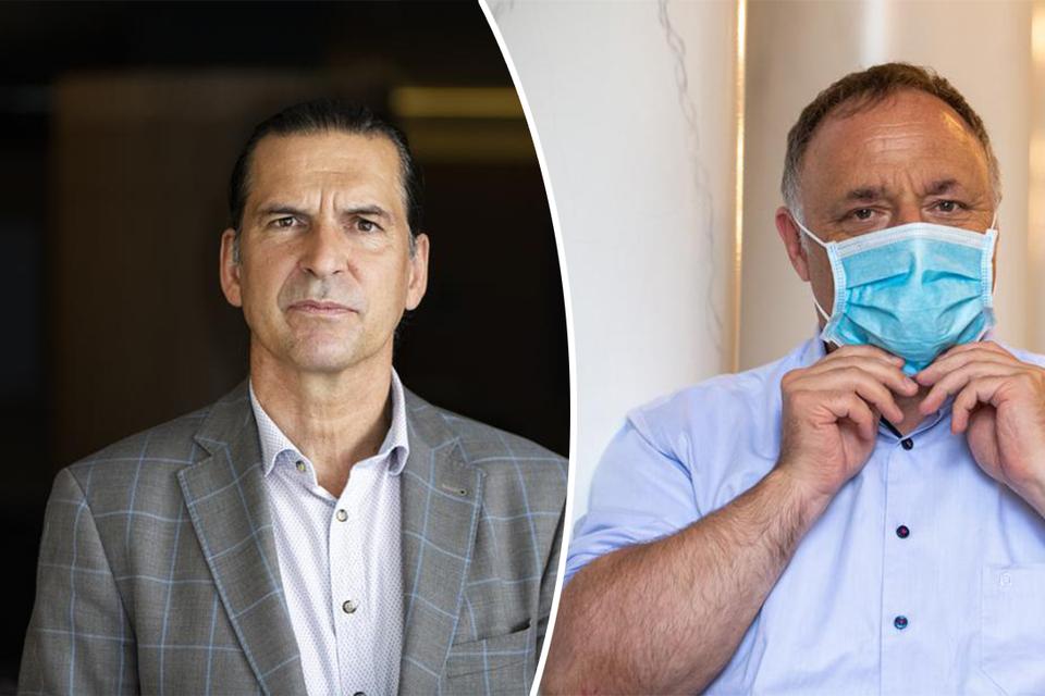 Gezondheidseconoom Lieven Annemans en viroloog Marc Van Ranst.