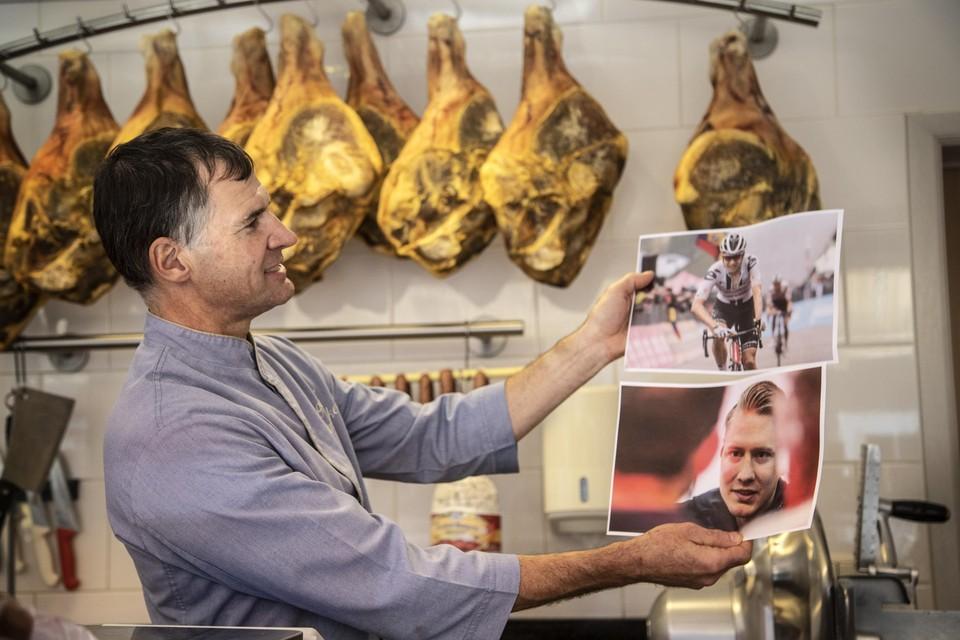 Slager Eddy Slootmaekers herkende als een van de weinigen Wilco Kelderman van de foto.