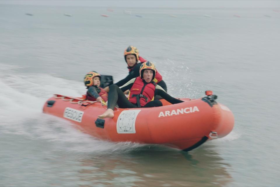 Dat zo'n reddersbootje wel heel snel kan gaan, had Saartje Vandendriessche duidelijk niet verwacht.