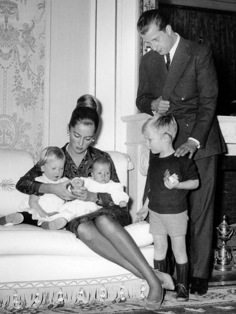 Albert en Paola, met hun kinderen (v.l.n.r.) Astrid, Laurent en Filip.