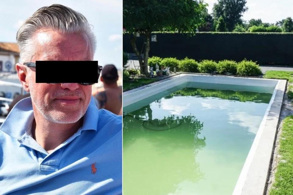 Petrus L. wordt door klanten beschuldigd van oplichting bij het bouwen van hun zwembad.