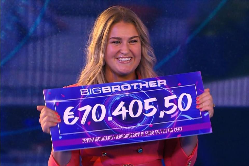 Jill won de voorbije editie van 'Big brother'