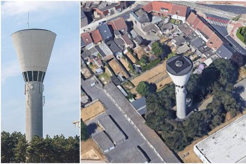 Deze voormalige watertoren op het industriepark in Zwijnaarde is aangekocht door Topradio.