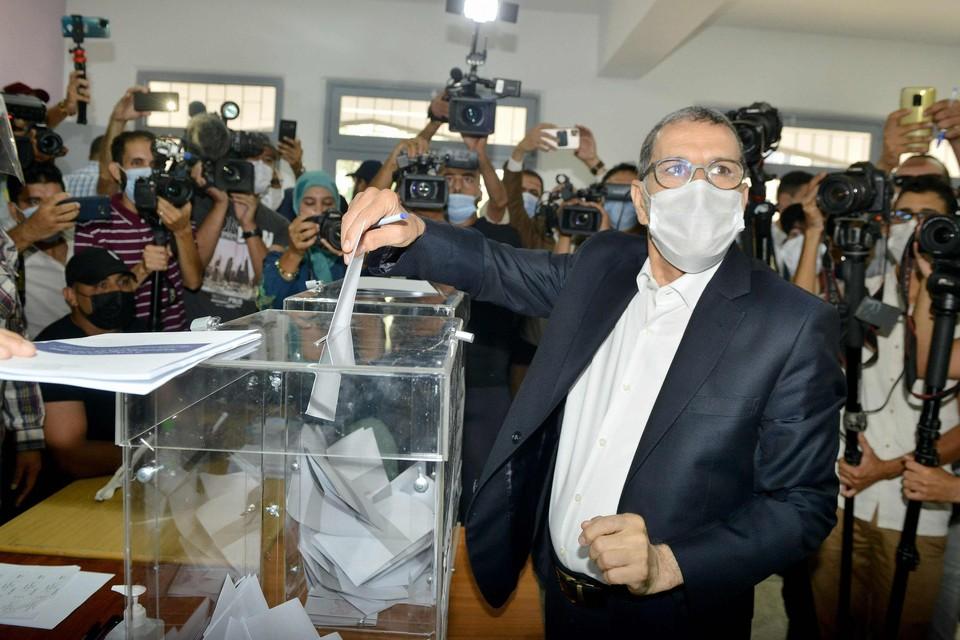 De partij van premier Saad-Eddine El Othmani (PJD) zou nog 12 van haar 125 zetels overhouden.