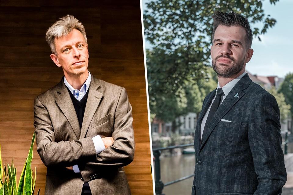 De economen Geert Noels (l) en Stijn Baert (r) zijn hard voor het sociaal akkoord.