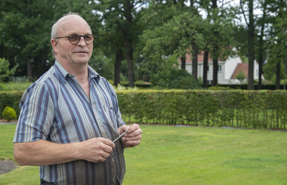 """Jan Tilborgs werkte jarenlang als bewaker bij landlopers en woont in een oude bewakerswoning. """"Wij wisten niets af van dat Unesco-verhaal."""""""