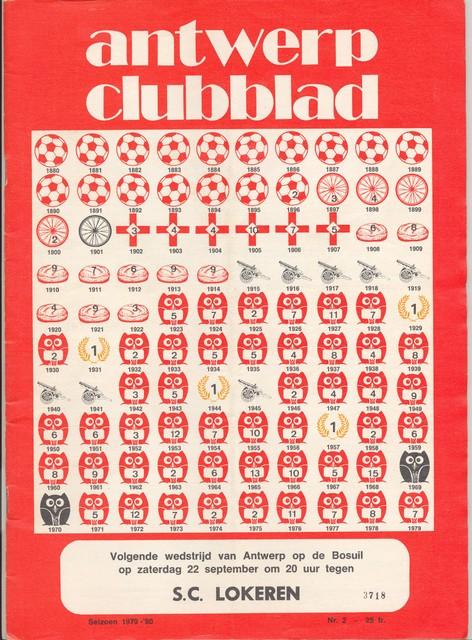 In 1979 gaf het 'Clubblad' het toenmalige palmares van de Great Old op deze originele grafische wijze mee.