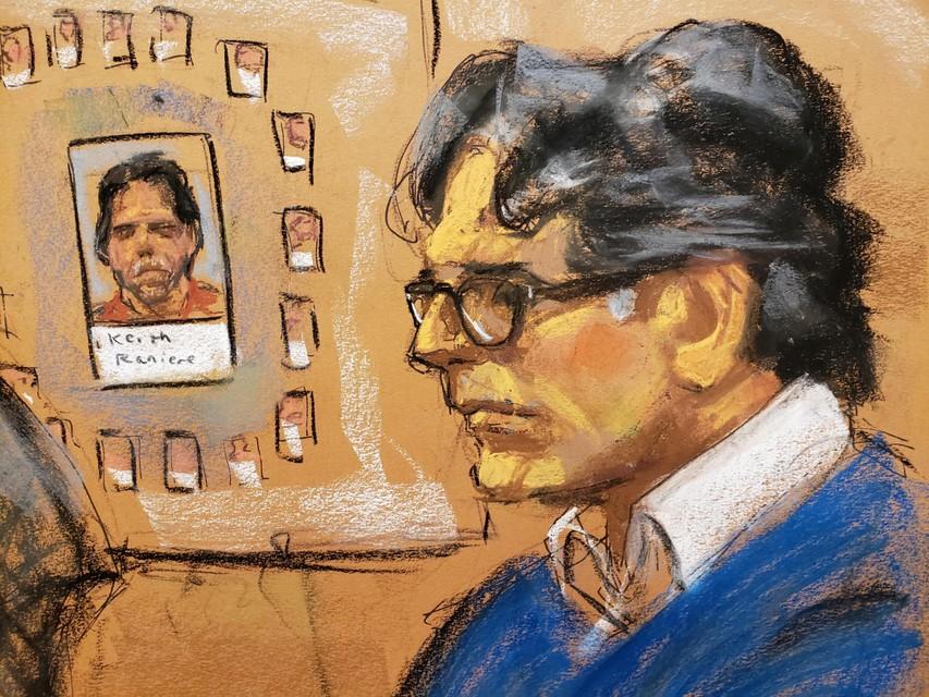 Raniere tijdens zijn proces, waar hij tot 120 jaar cel werd veroordeeld.