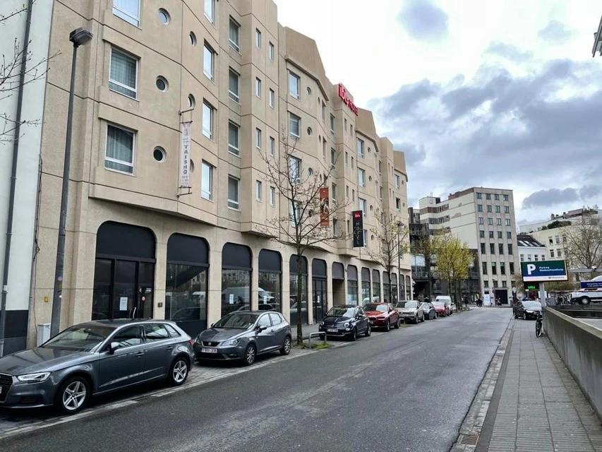 Het hotel in de Meistraat in Antwerpen, aan het Theaterplein