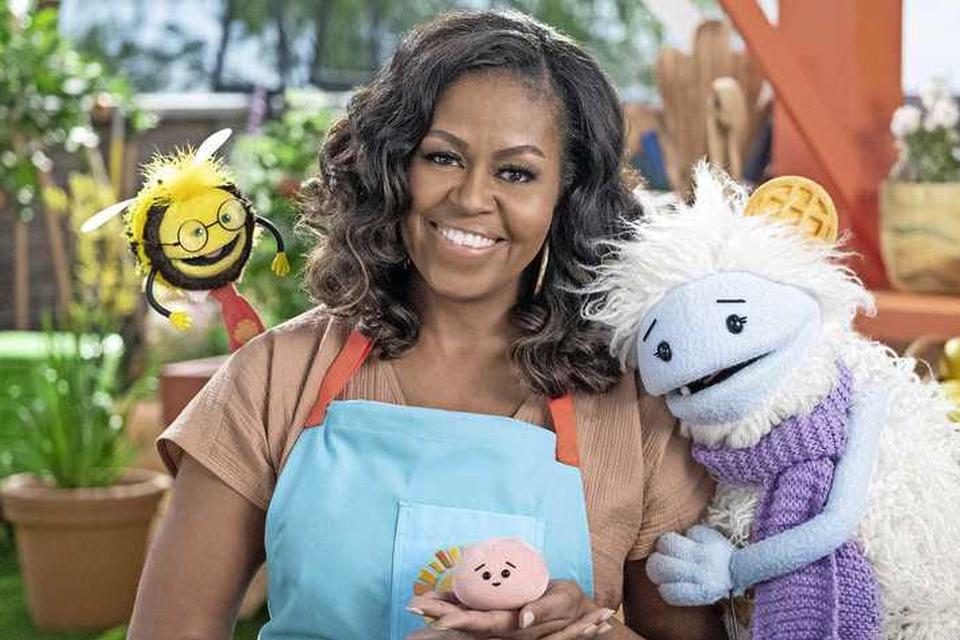 Michelle Obama in de nieuwe serie Waffles + Mochi