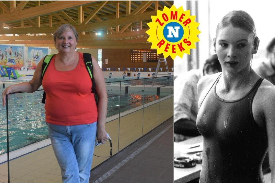 Carine Verbauwen geeft nu onder andere zwemtraining als hoofdcoach van de Gentse zwemclubs.