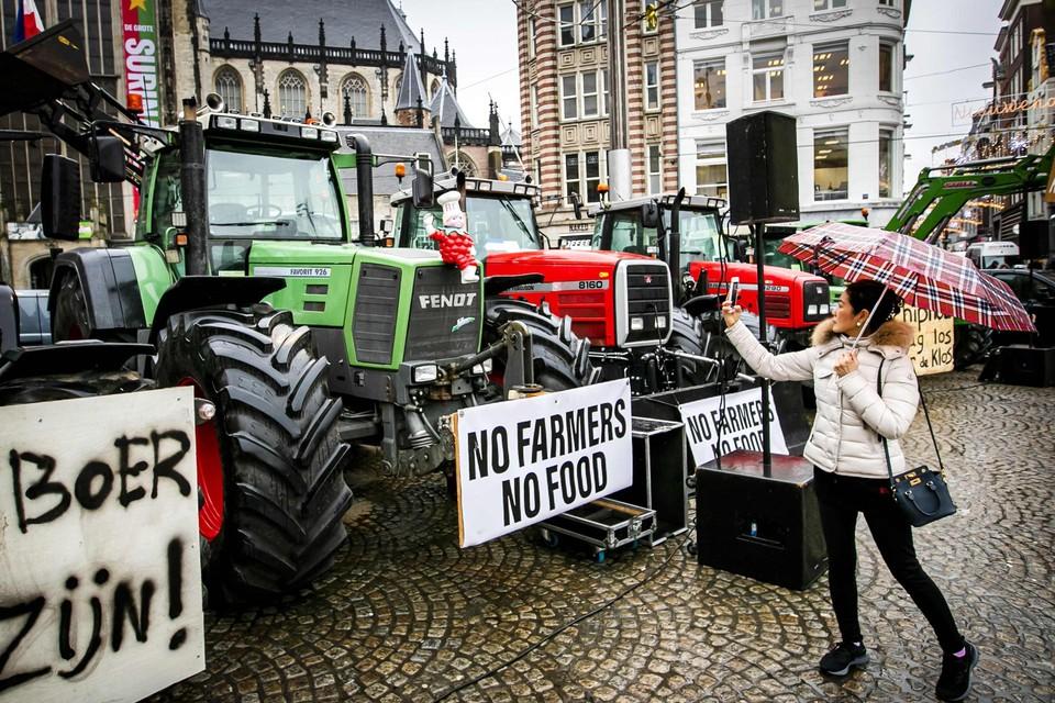 Archiefbeeld: Nederlandse boeren protesteren in Amsterdam.