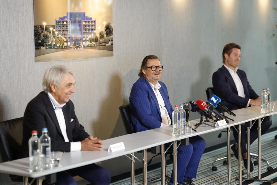 Eddy Walravens, Marc Coucke en Bart Versluys