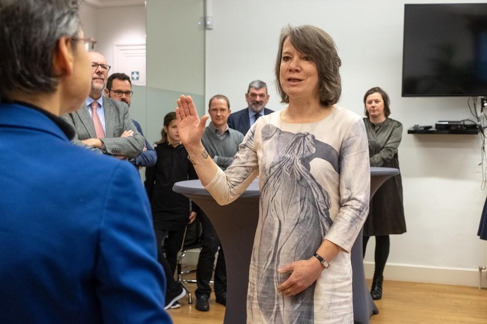 Liesbeth Verstreken (N-VA) blijft burgemeester.