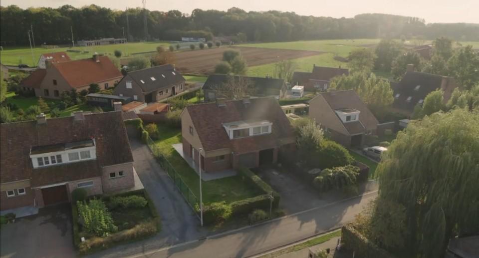 Het (voormalig) huis van Mila en Mathias in Lotenhulle.