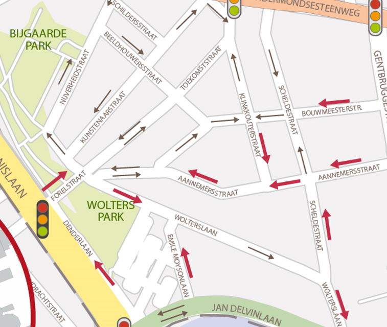 Een stukje eenrichtingsverkeer in de Forelstraat moet van de Toekomststraat en de omliggende straten een rustigere wijk maken.
