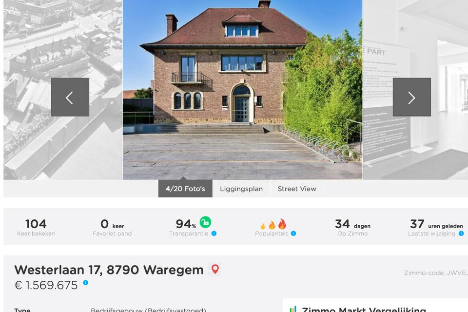 Be-Part staat te koop voor net geen 1,6 miljoen euro.