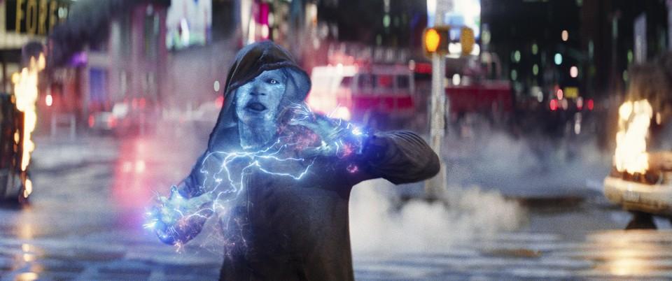 Jamie Foxx als Electro in 'The amazing Spider-Man'.