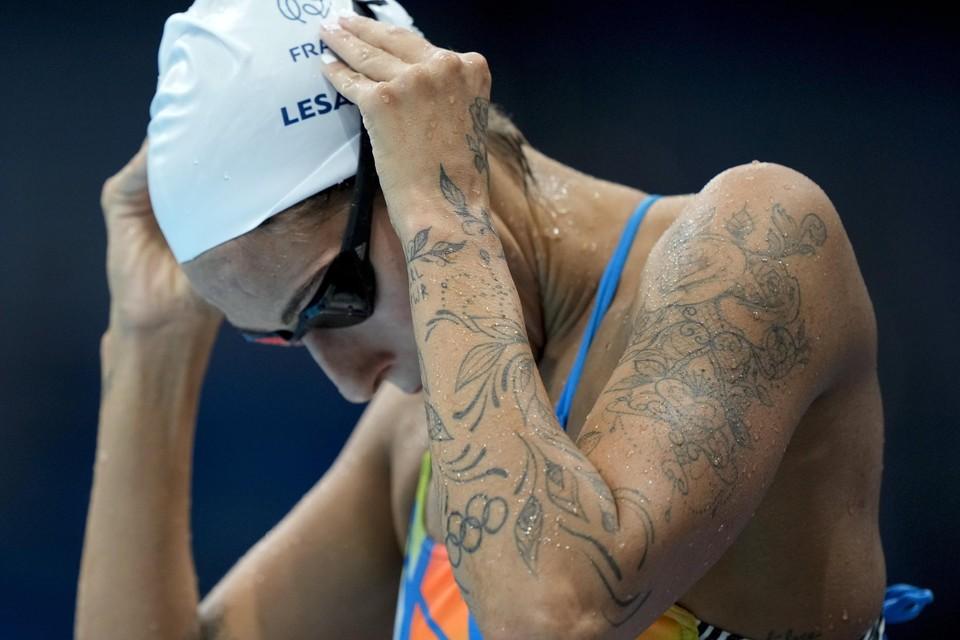 De Franse zwemster Fantine Lesaffre