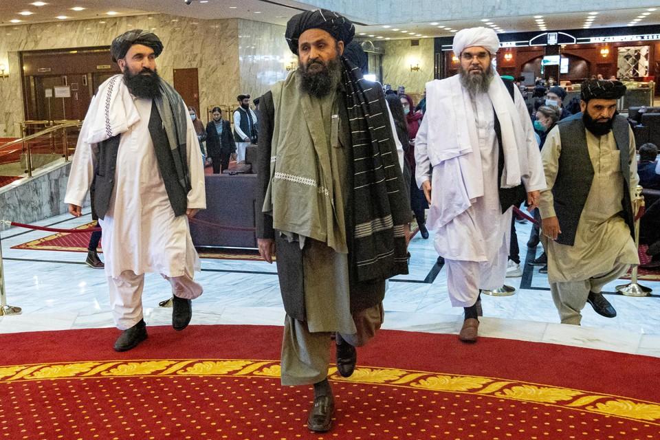 Mullah Abdul Ghani Baradar, hier gefotografeerd in maart 2021.