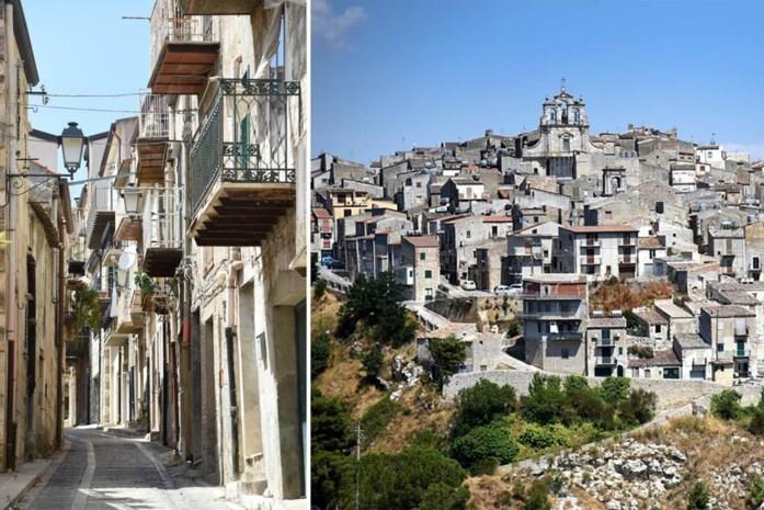 Themabeeld, dit is niet Maenza, maar een ander dorp in Italië waar de huizen aan 1 euro verkocht zijn