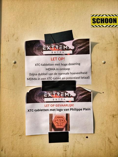 Ook op het festival zelf wordt gewaarschuwd voor de pillen.