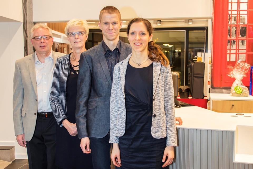 De huidige generatie Lenaerts met Leo en Roel.