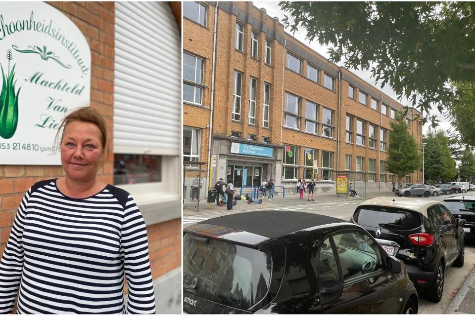 """Schoonheidsspecialiste Machteld Van Lierde heeft haar salon in de Sinte Annalaan en ziet dat klanten er nu vaak geen parkeerplaats vinden. Toch is zij geen voorstander van betalend parkeren: """"Waarom geen blauwe zone."""""""
