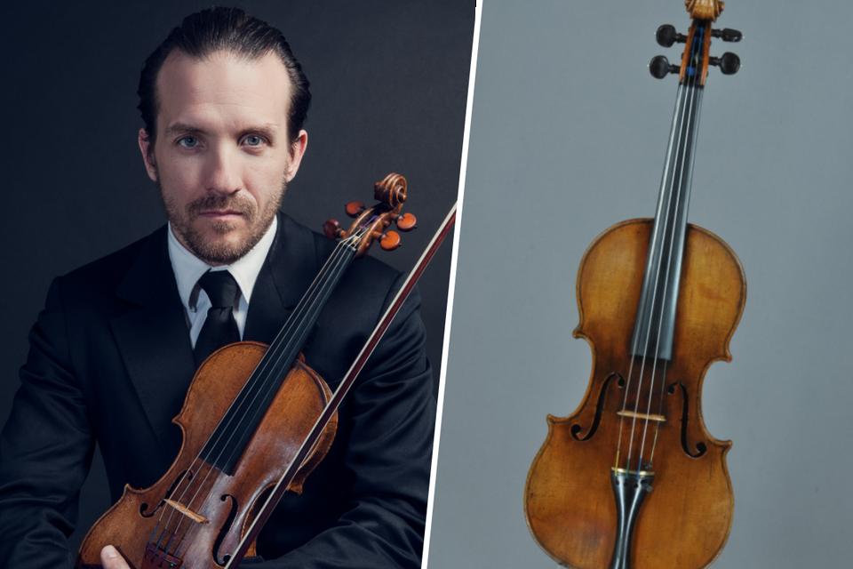 Violist Hugues Borsarello zal de originele viool van Mozart bespelen.